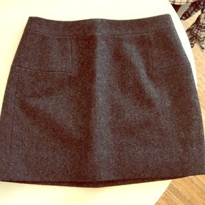 JCrew wool mini skirt